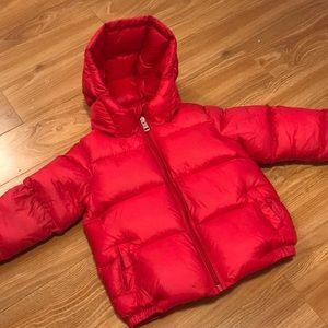 Moncler sz 4 goose down puffer coat red